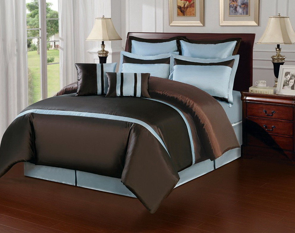 Aqua Blue And Brown Bedding Setsaqua Blue And Brown Bedding Sets