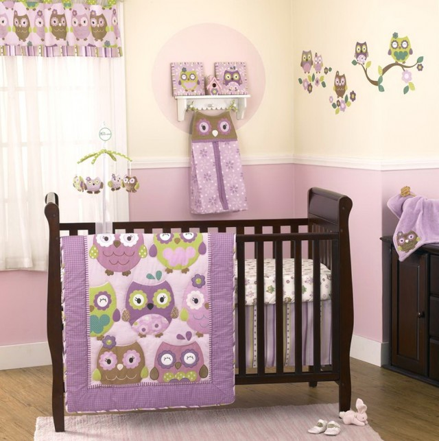 Baby Girl Owl Nursery Bedding