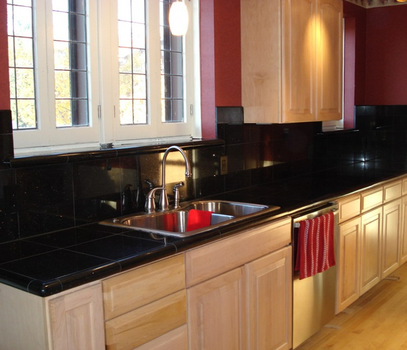 Backsplash For Kitchen With Black Granite Countertopbacksplash For Kitchen With Black Granite Countertop