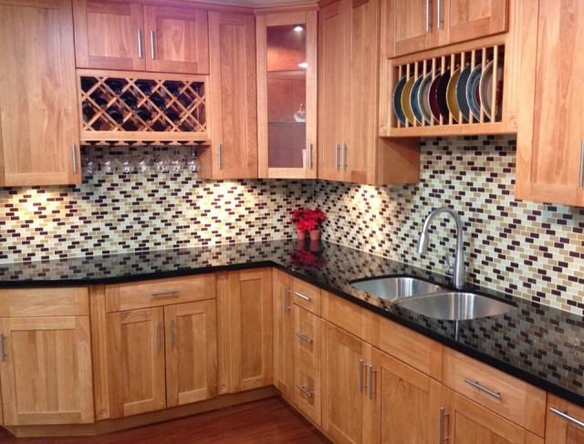 Backsplash For Kitchen With Honey Oak Cabinetsbacksplash For Kitchen With Honey Oak Cabinets