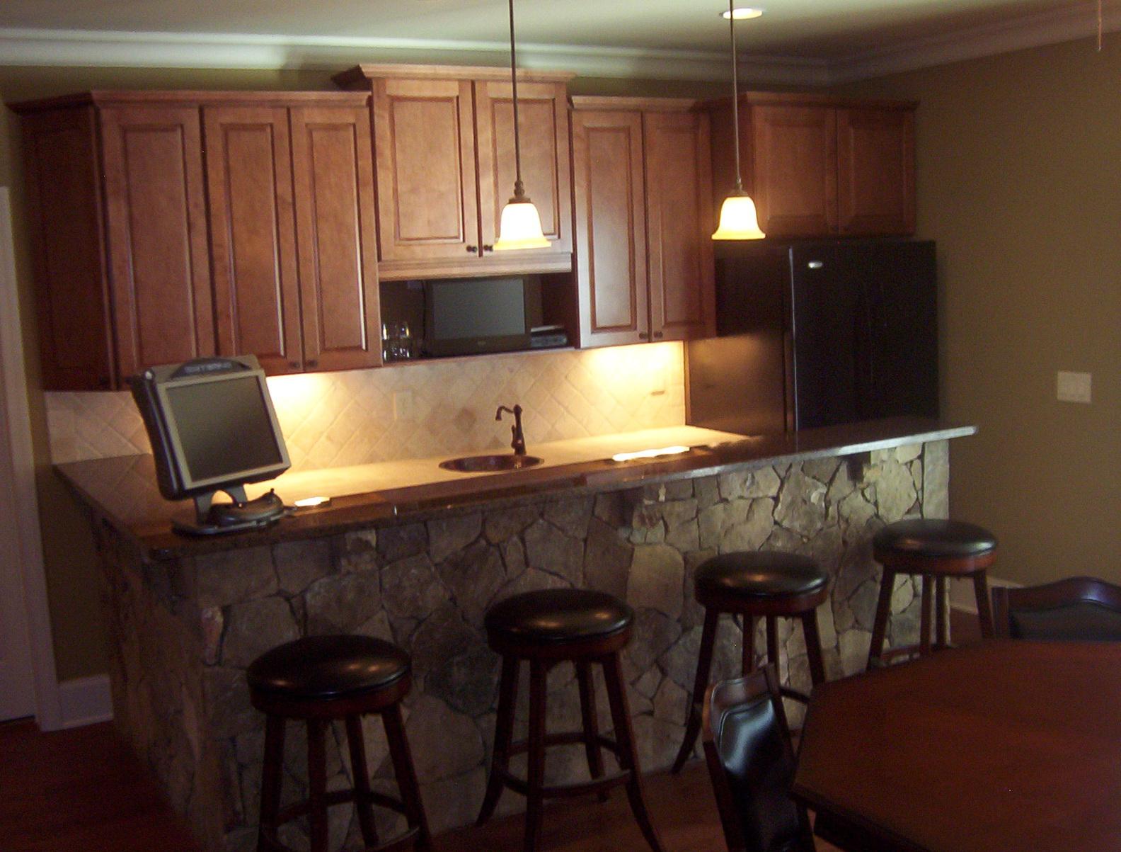 Basement Wet Bar Cabinets