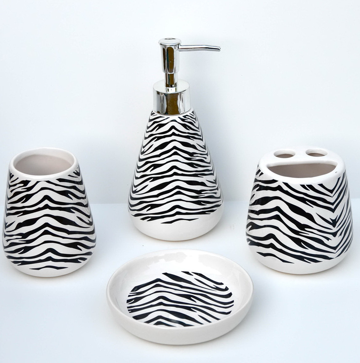 Bathroom Accessories Set White Ceramic