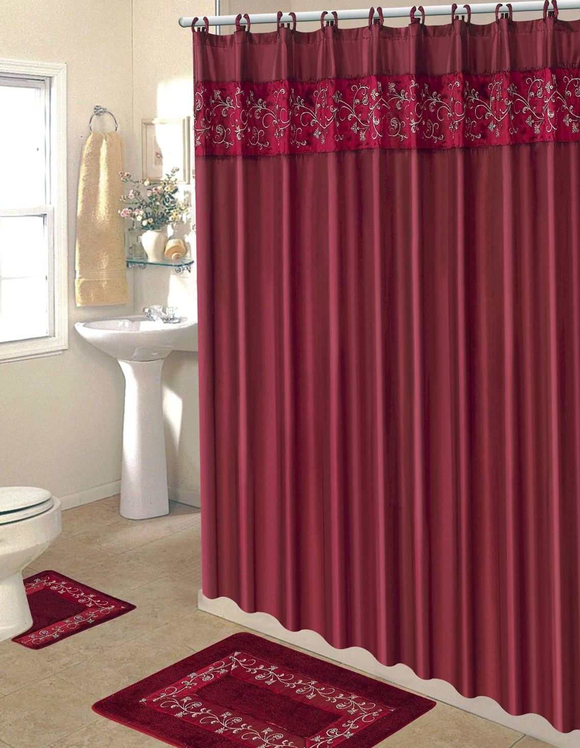 Bathroom Accessories Sets With Shower Curtain