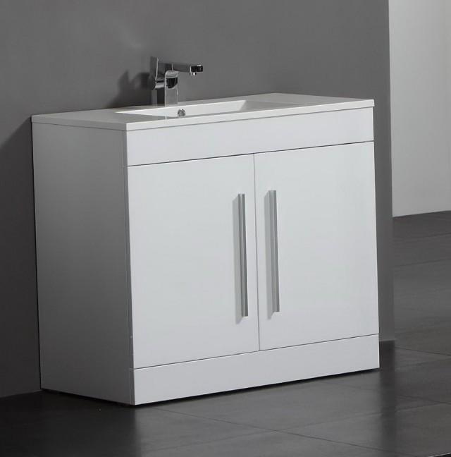 Bathroom Floor Cabinet White