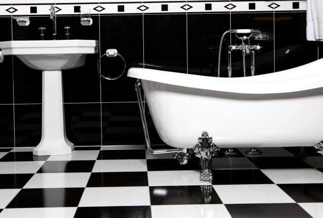 Bathroom Floor Tiles Black And White