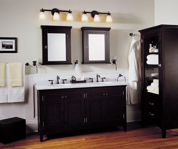 Bathroom Lighting Fixtures Over Mirror