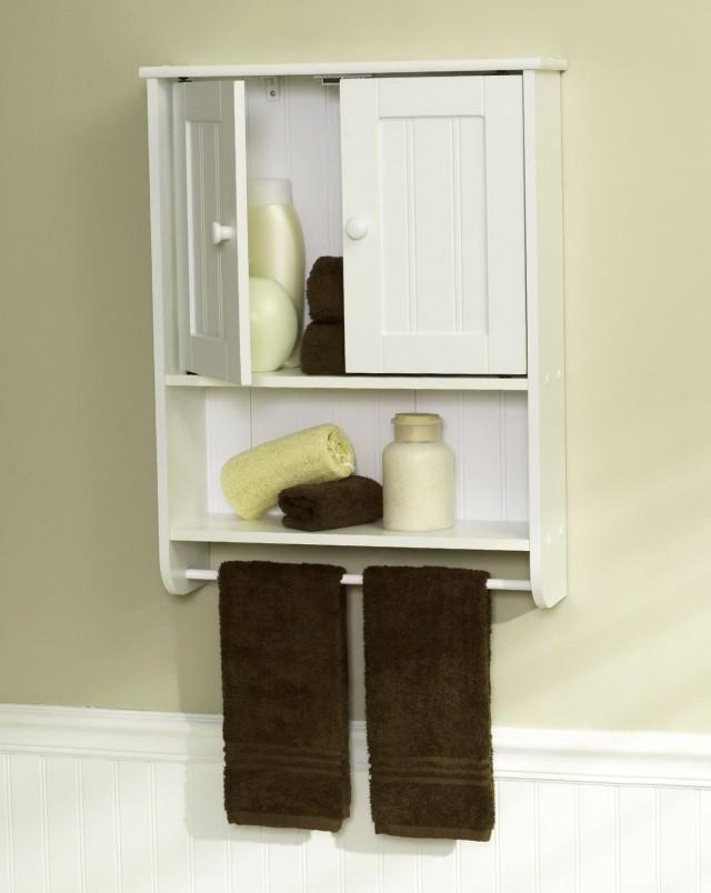 Bathroom Wall Cabinet With Towel Bar