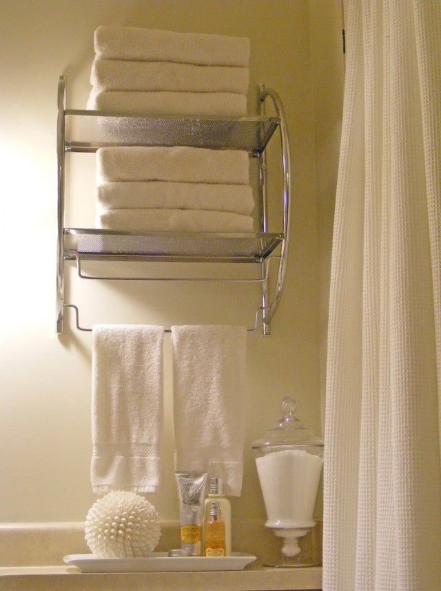 Bathroom Wall Cabinet With Towel Rack