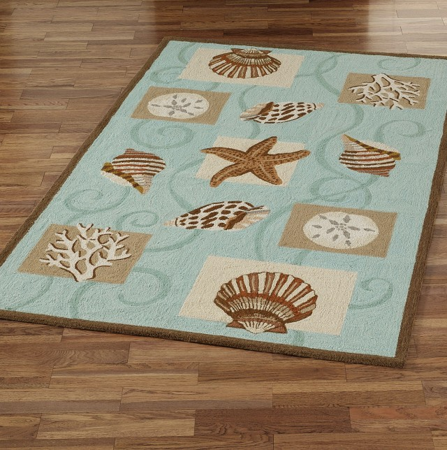Beach Themed Bathroom Rugs