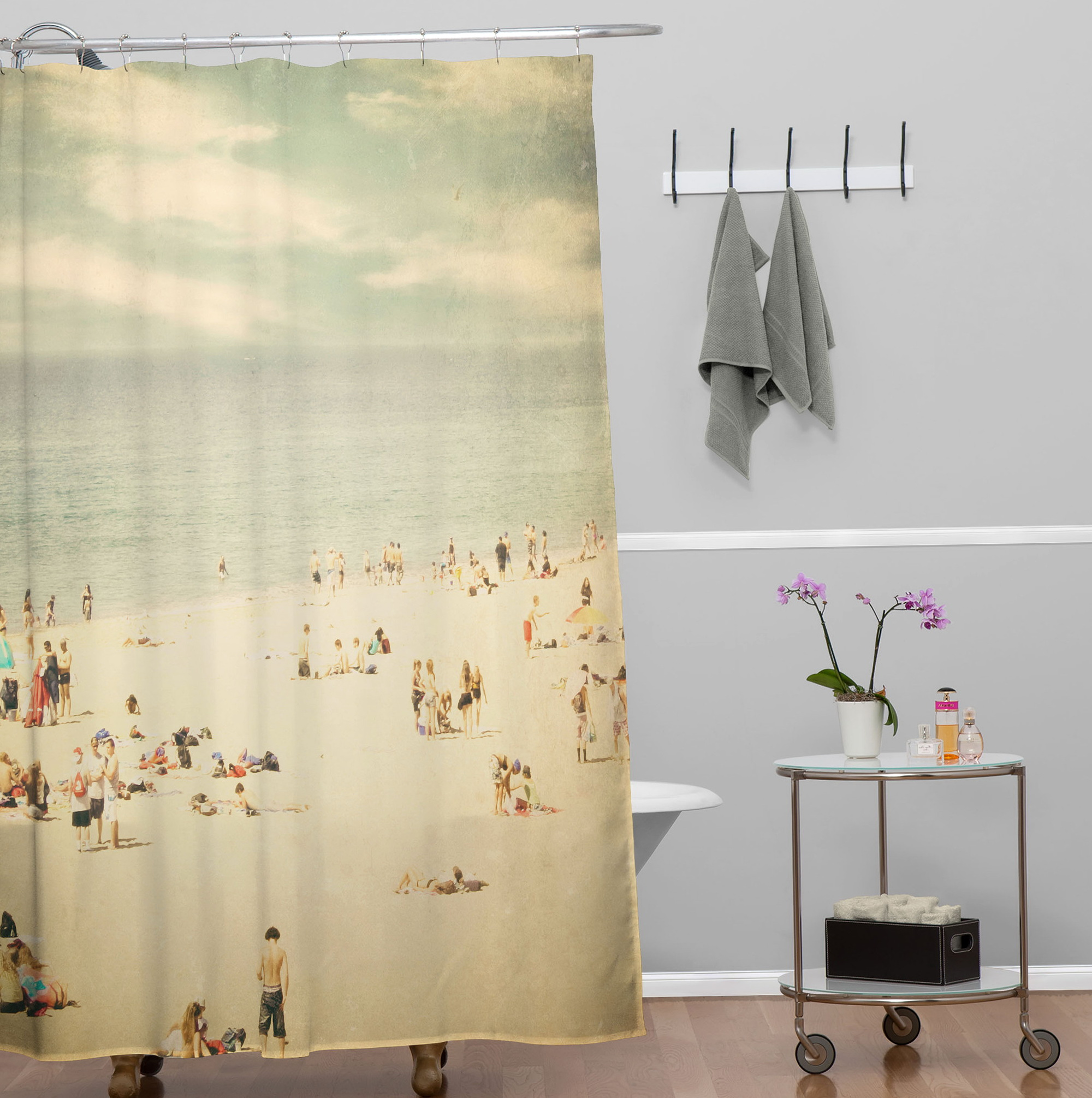 Beach Themed Bathroom Shower Curtains