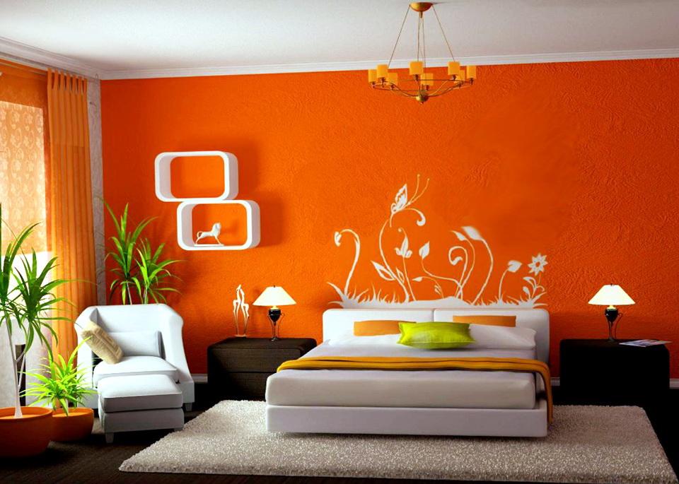 Bedroom Painting Ideas Orange