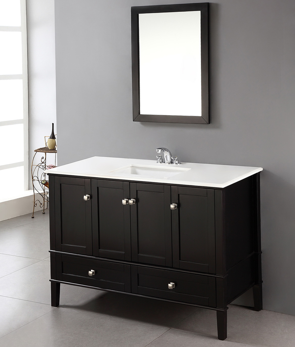 Black 48 Inch Bathroom Vanity