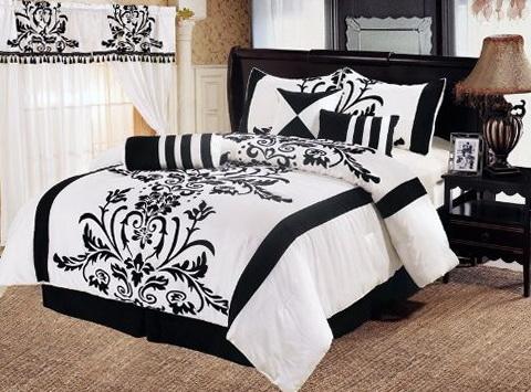 Black And White Full Size Bedding Sets