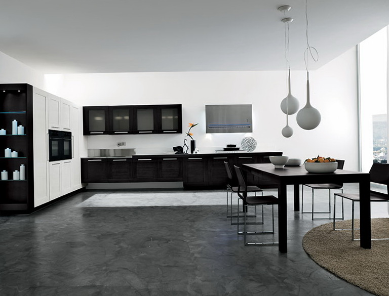Black And White Kitchen Designs