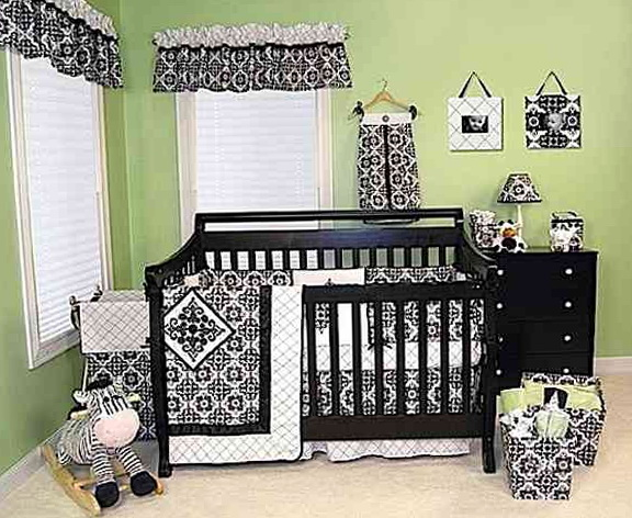Black And White Toddler Beddingblack And White Toddler Bedding