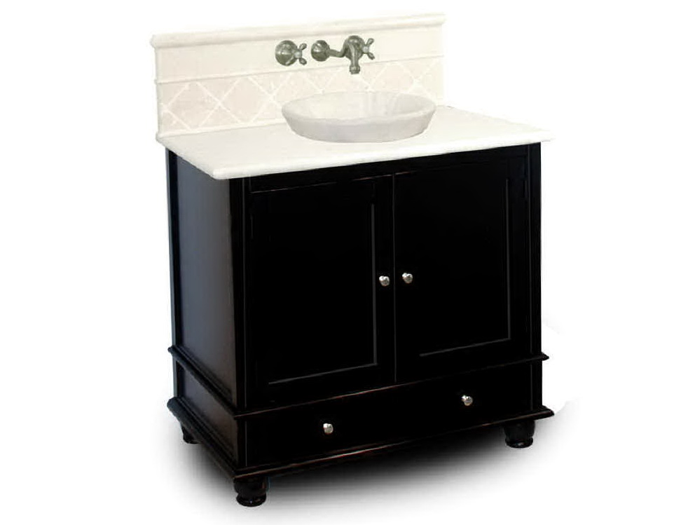 Black Bathroom Vanity Top