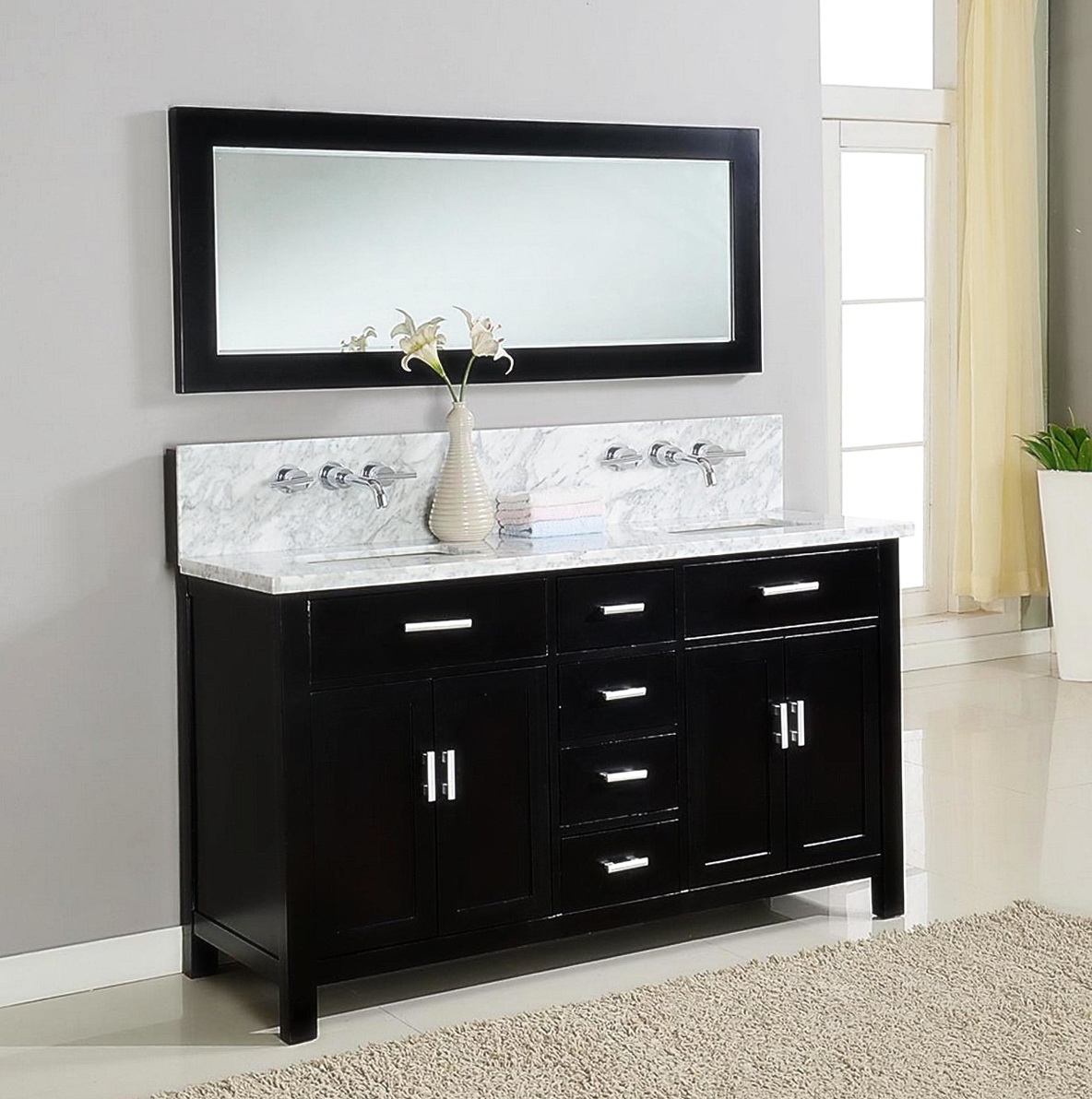 Black Bathroom Vanity Units