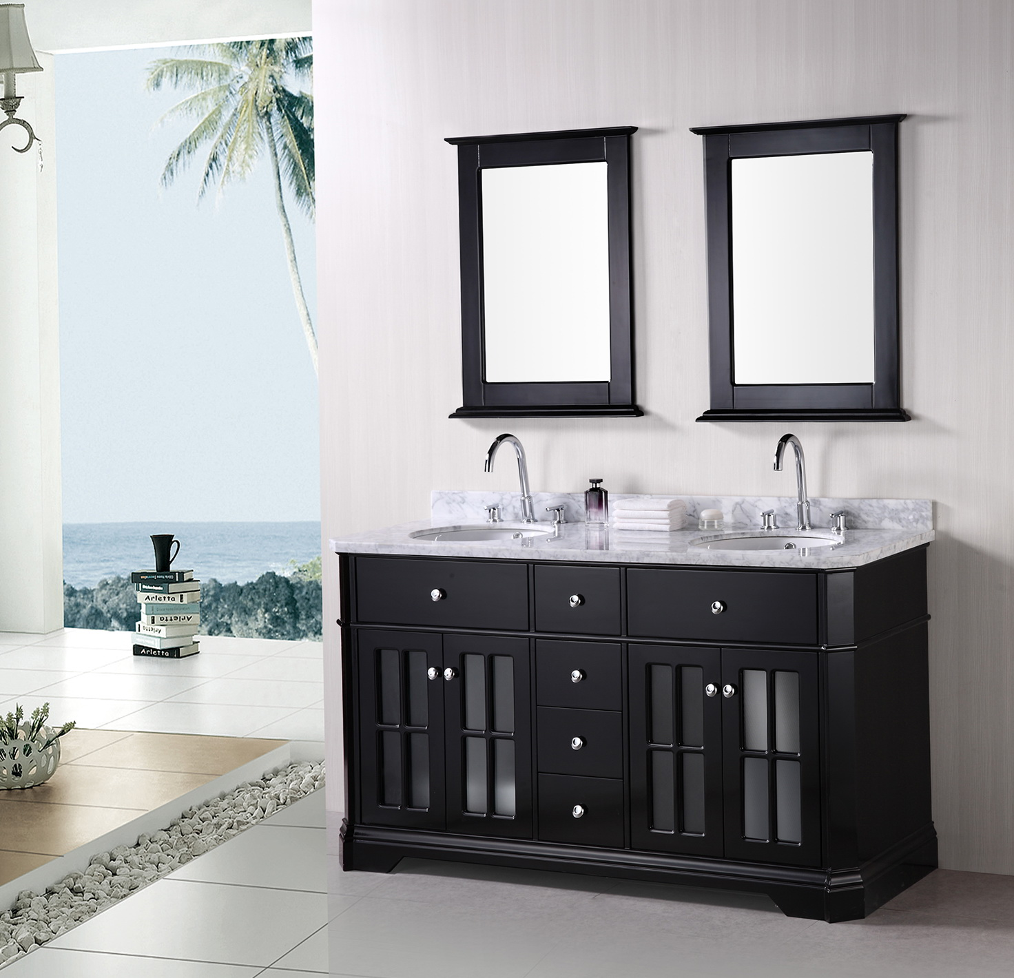 Black Bathroom Vanity With Sink