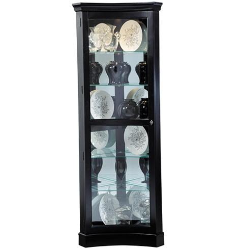 Black Corner Curio Cabinet