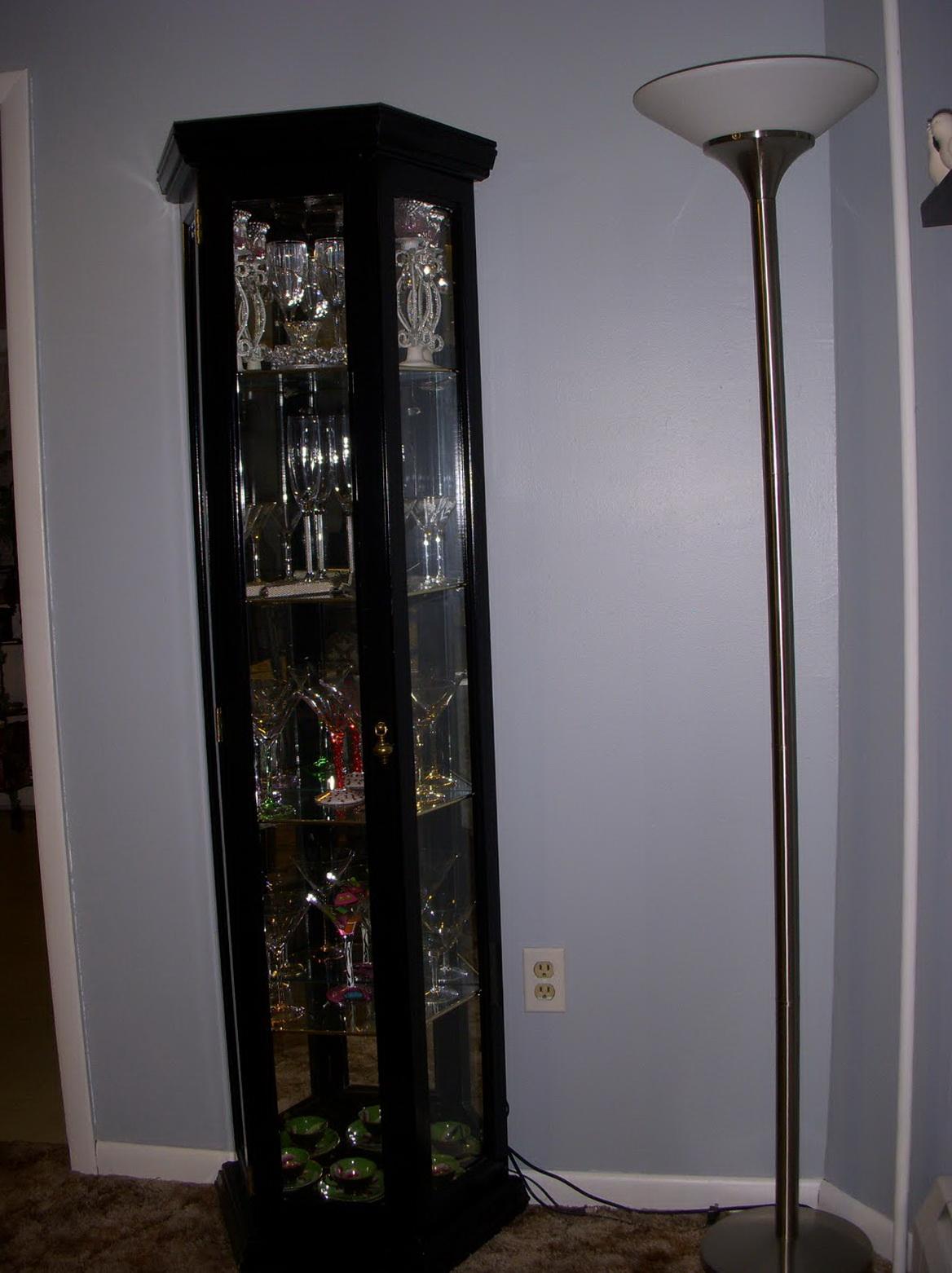 Black Corner Curio Cabinets