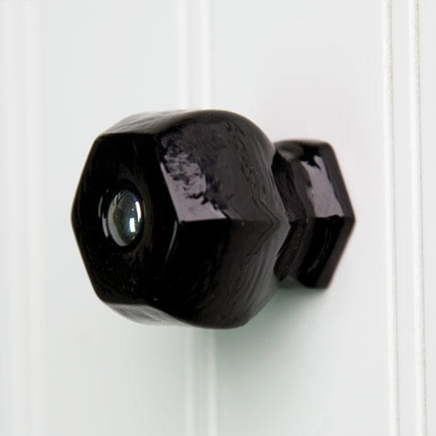 Black Glass Cabinet Knobs