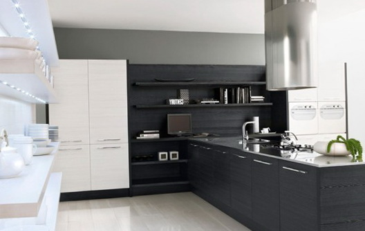 Black Kitchen Cabinets And Black Appliances