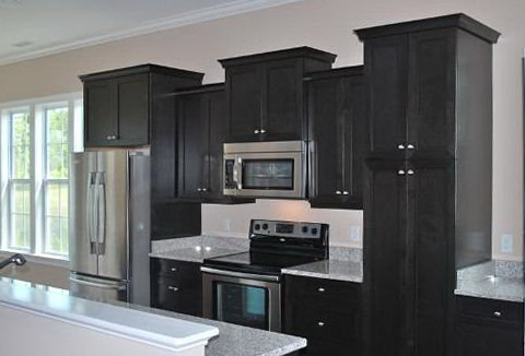 Black Kitchen Cabinets And Black Countertops