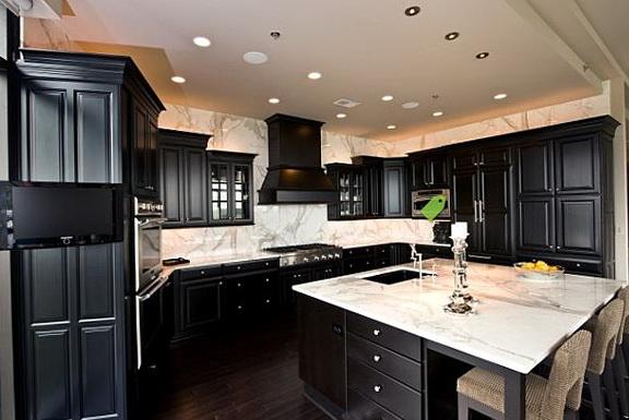 Black Kitchen Cabinets And Dark Floors