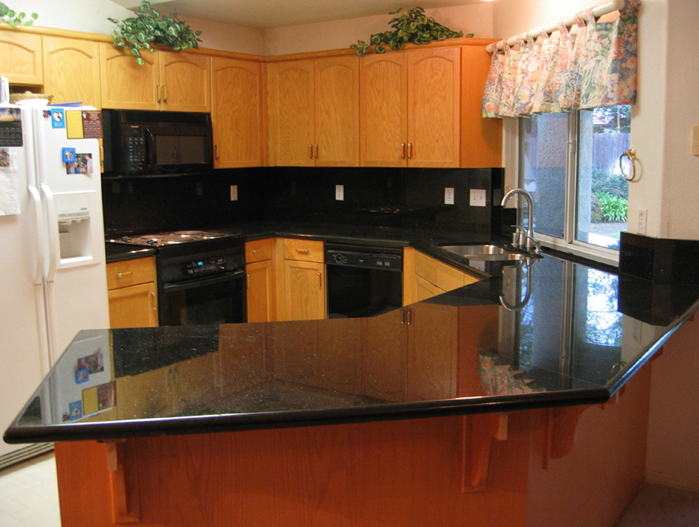 Black Kitchen Granite Countertops