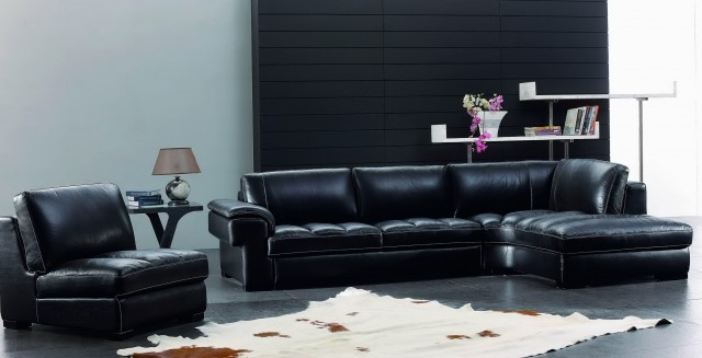Black Leather Living Room Sets