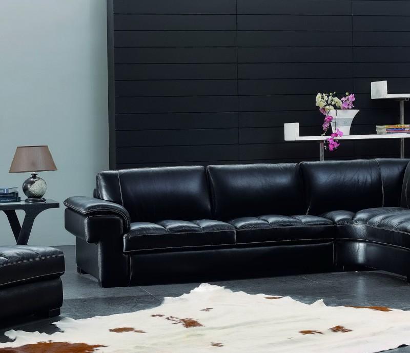Black Leather Living Room Sets