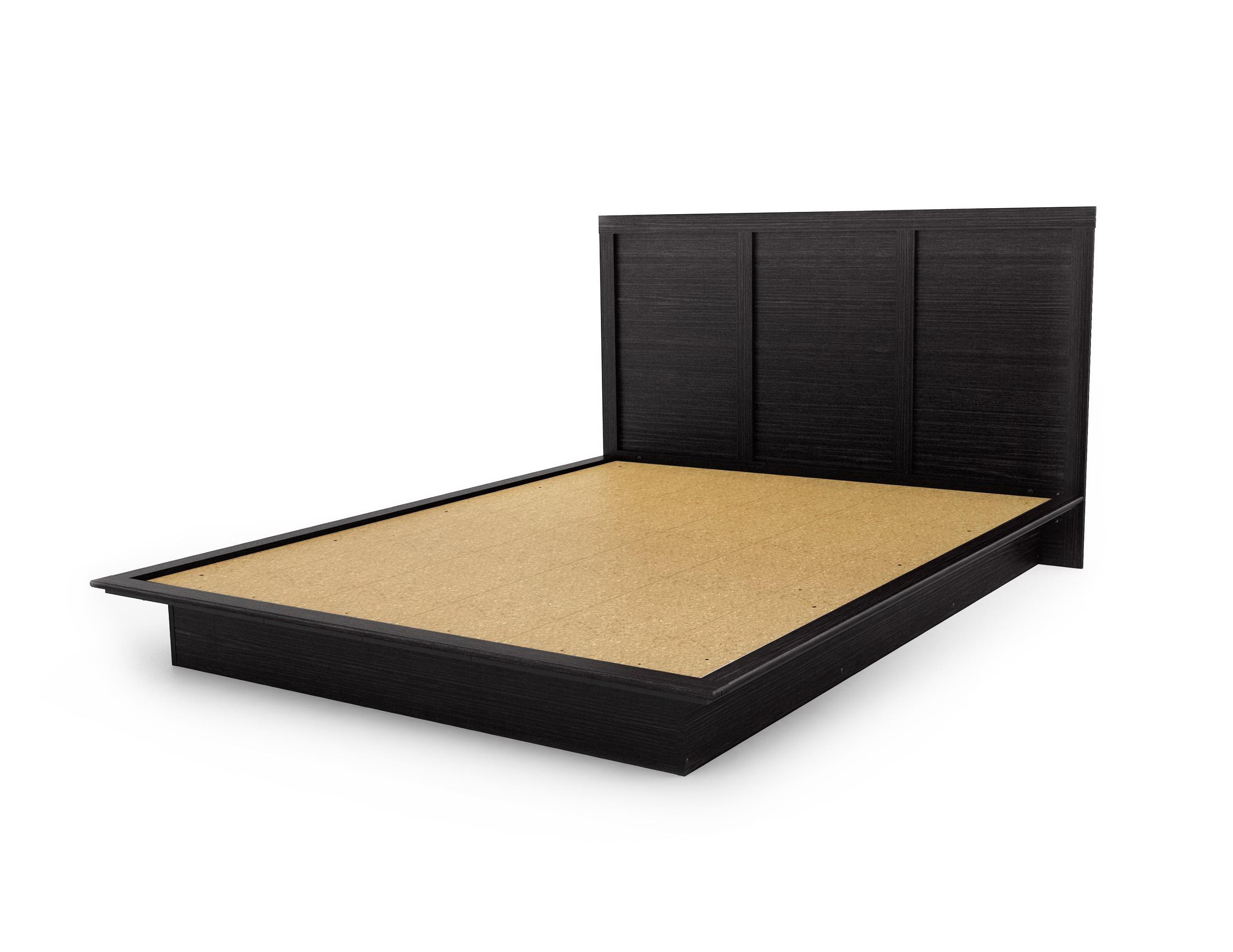 Black Platform Bed Queen