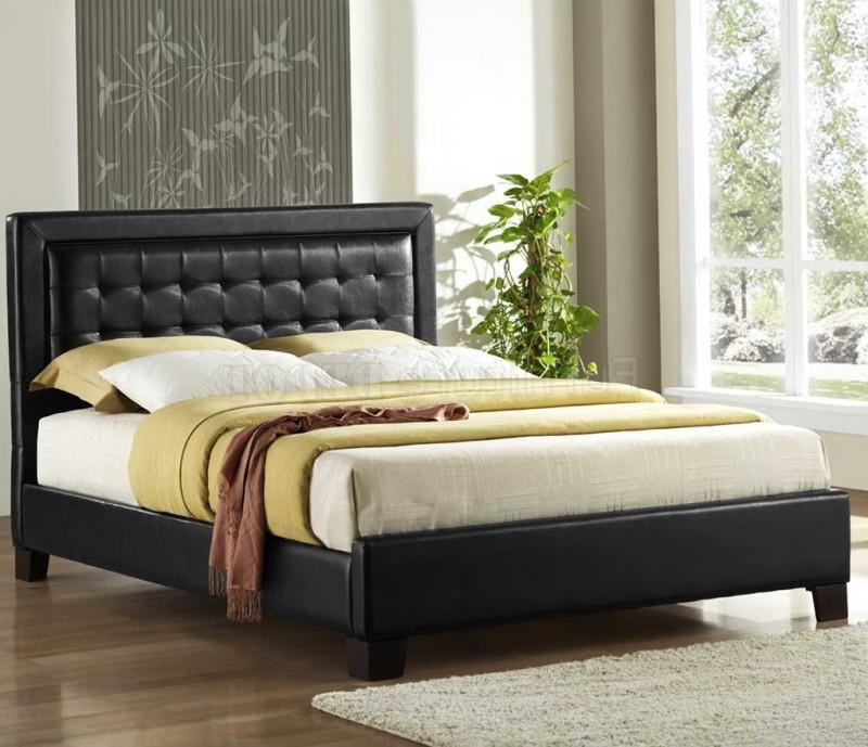 Black Platform Bed With Headboard