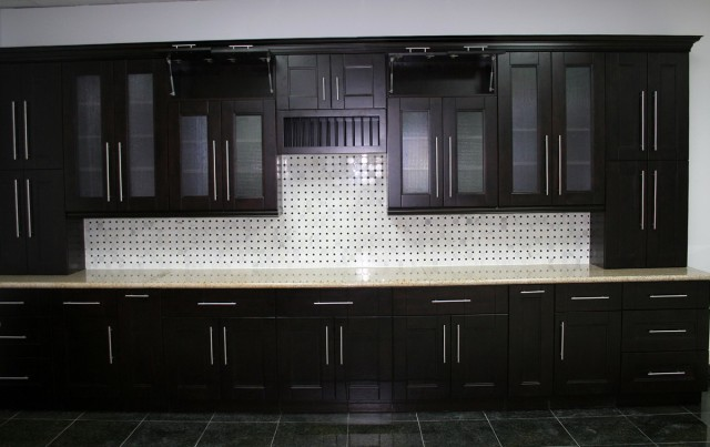 Black Shaker Kitchen Cabinets