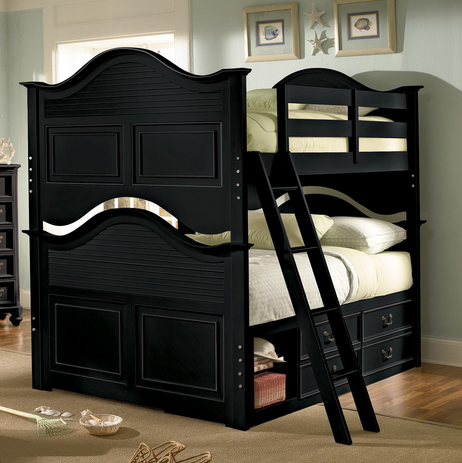 Black Twin Over Full Bunk Beds