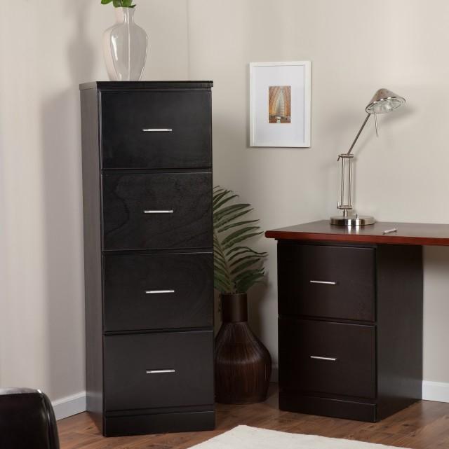 Black Wooden File Cabinets