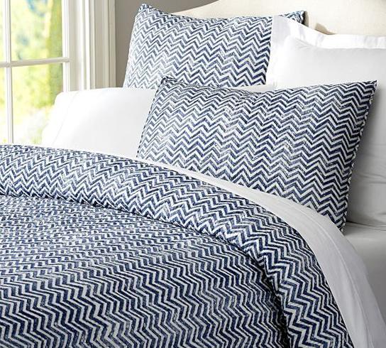Blue Zig Zag Bedding