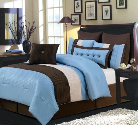 Brown And Blue Bedding King Size