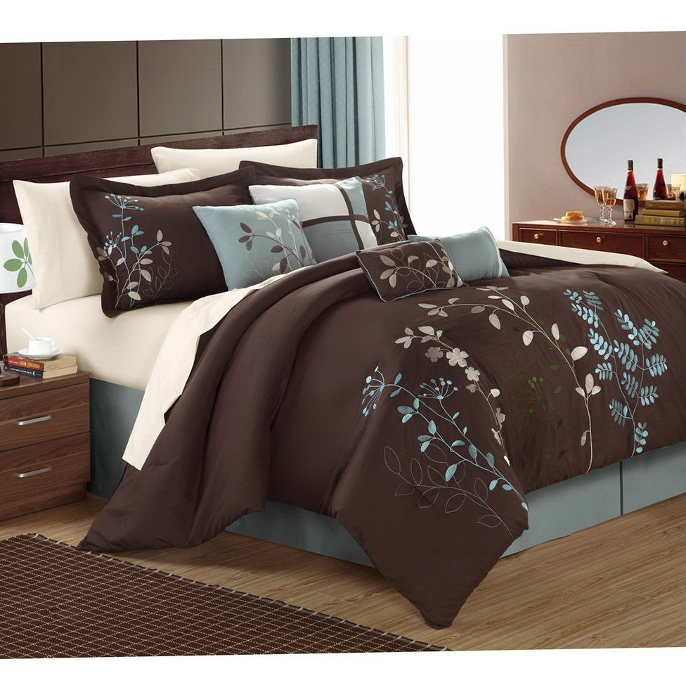 Brown And Blue Bedding Sets King
