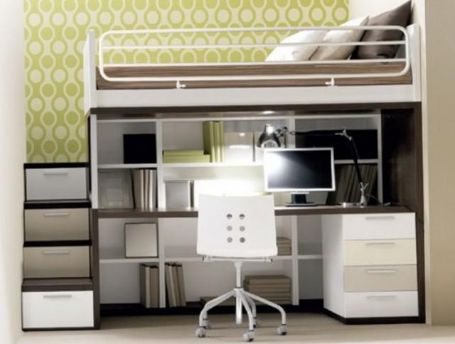 Bunk Bed Desk Under