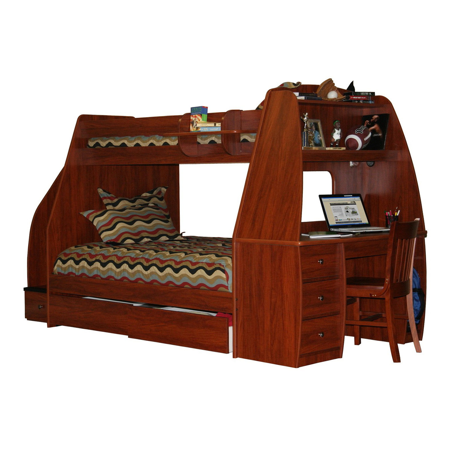 Bunk Bed With Trundle And Desk