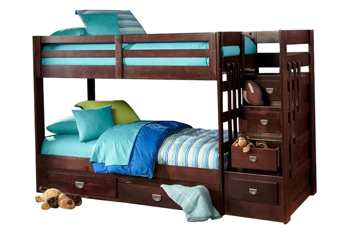 Bunk Bed With Trundle And Stairs