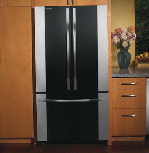 Cabinet Depth Refrigerator Black
