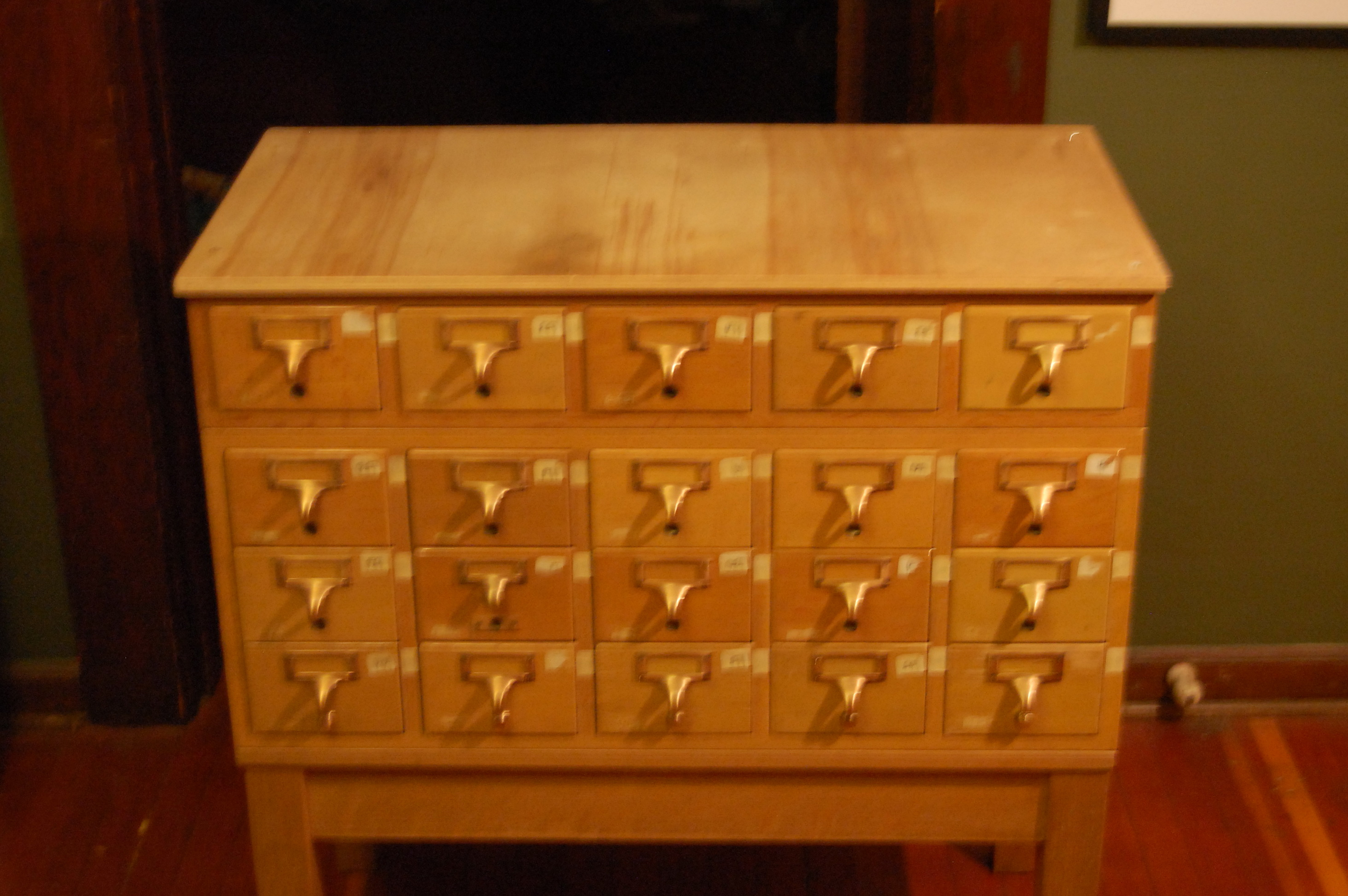 Card Catalog Cabinet Plans