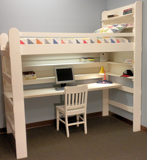College Loft Beds With Desk