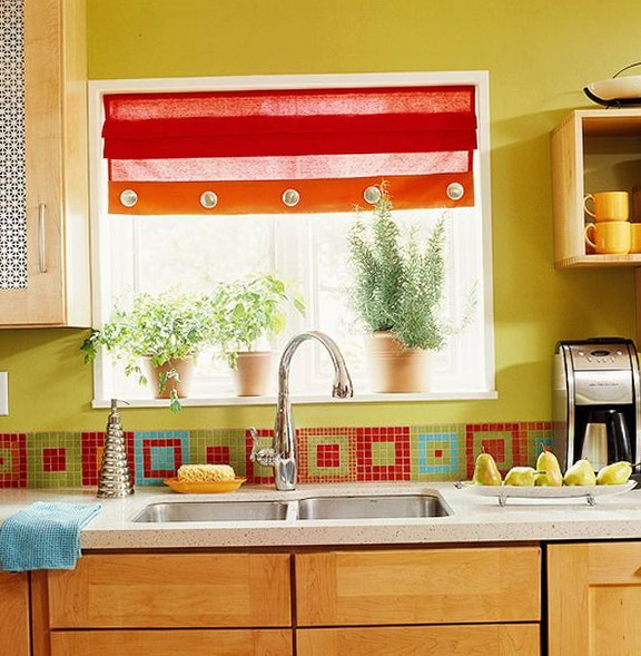 Colorful Kitchen Backsplash Designs