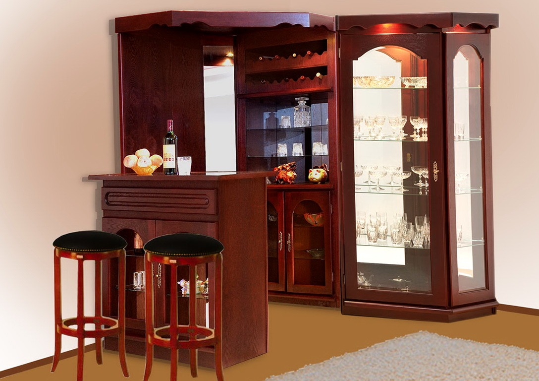 Corner Bar Cabinet Design