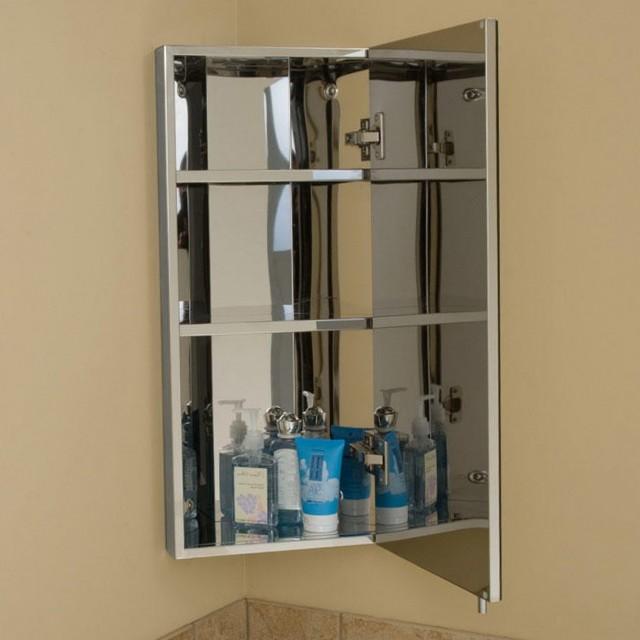 Corner Bathroom Cabinet Mirror