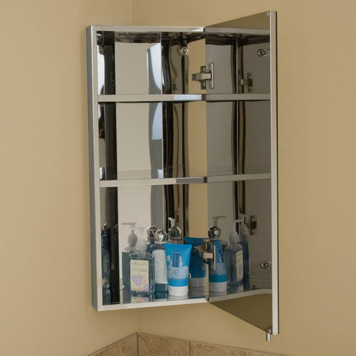 Corner Bathroom Cabinet Mirror