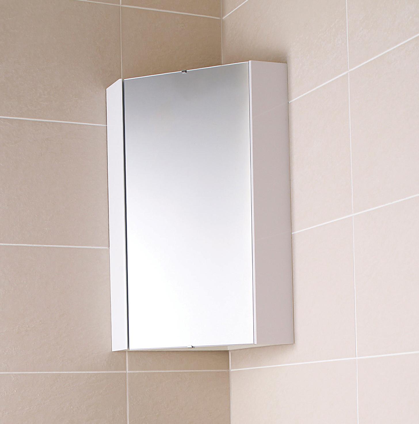Corner Bathroom Cabinet White